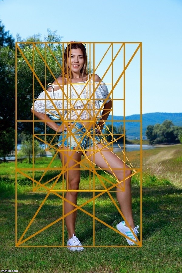 A sexy woman showing off her Golden Ratio legs in the Golden Angle. | image tagged in the golden ratio,sexy woman,sexy legs,beauty,the human body,geometry | made w/ Imgflip meme maker