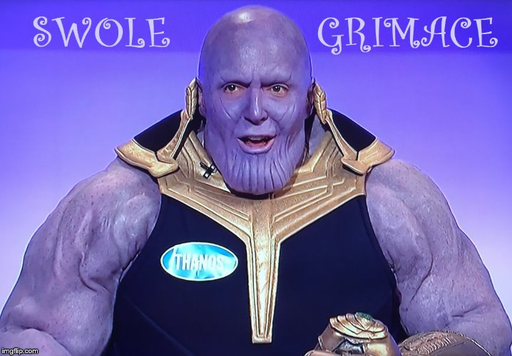 Thanos Family Feud | image tagged in steve harvey | made w/ Imgflip meme maker