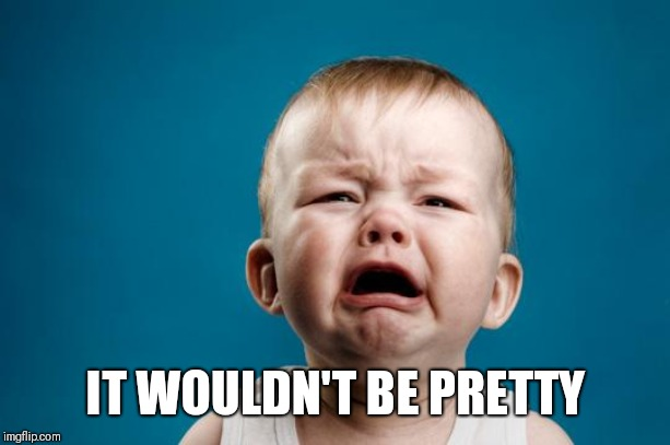 BABY CRYING | IT WOULDN'T BE PRETTY | image tagged in baby crying | made w/ Imgflip meme maker