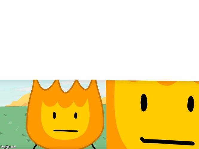 Smiling firey | image tagged in bfdi | made w/ Imgflip meme maker