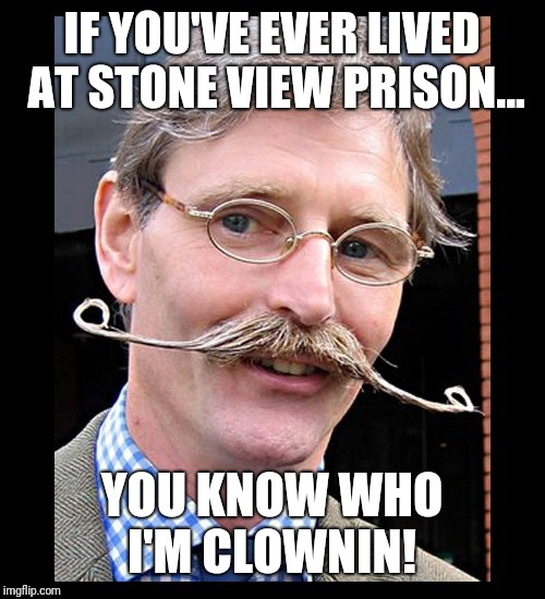 IF YOU'VE EVER LIVED AT STONE VIEW PRISON... YOU KNOW WHO I'M CLOWNIN! | image tagged in jerk | made w/ Imgflip meme maker