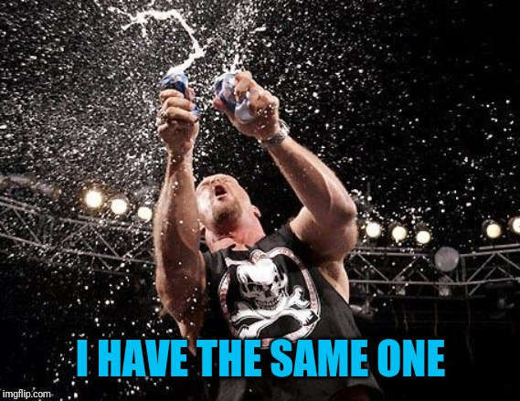 stone cold beers | I HAVE THE SAME ONE | image tagged in stone cold beers | made w/ Imgflip meme maker