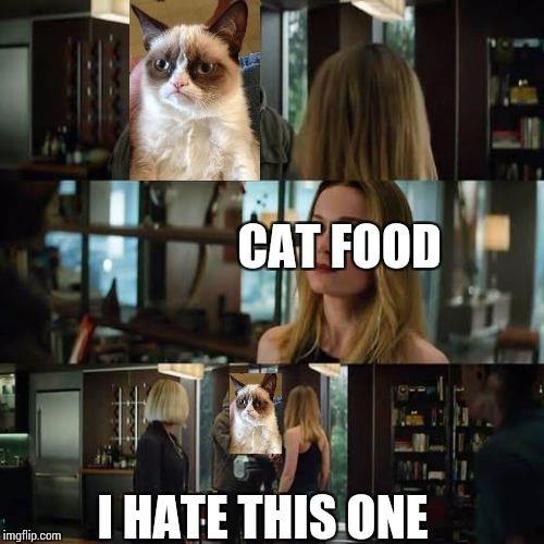 I like this one avengers | CAT FOOD I HATE THIS ONE | image tagged in i like this one avengers | made w/ Imgflip meme maker