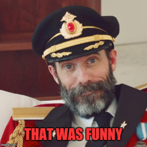 Captain Obvious | THAT WAS FUNNY | image tagged in captain obvious | made w/ Imgflip meme maker