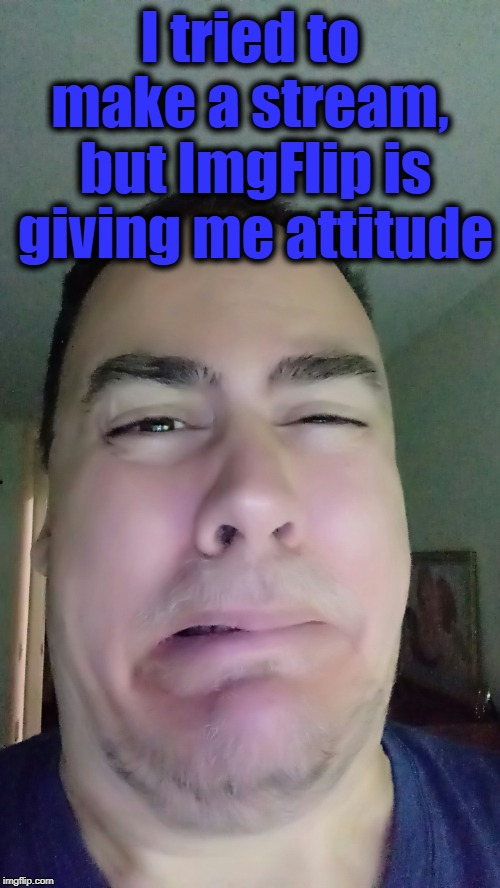 I tried to make a stream,  but ImgFlip is giving me attitude | made w/ Imgflip meme maker