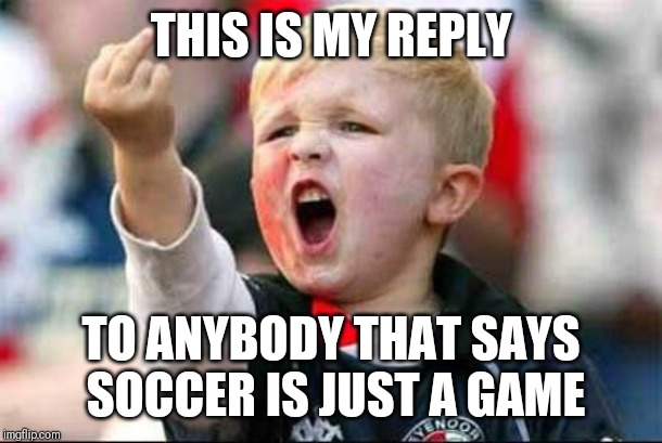 THIS IS MY REPLY TO ANYBODY THAT SAYS SOCCER IS JUST A GAME | image tagged in soccer baby | made w/ Imgflip meme maker