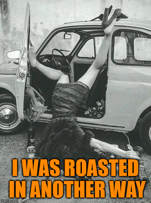 Drunk Girl  | I WAS ROASTED IN ANOTHER WAY | image tagged in drunk girl | made w/ Imgflip meme maker