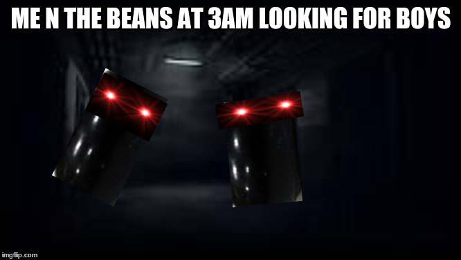ME N THE BEANS AT 3AM LOOKING FOR BOYS | image tagged in me and the boys | made w/ Imgflip meme maker