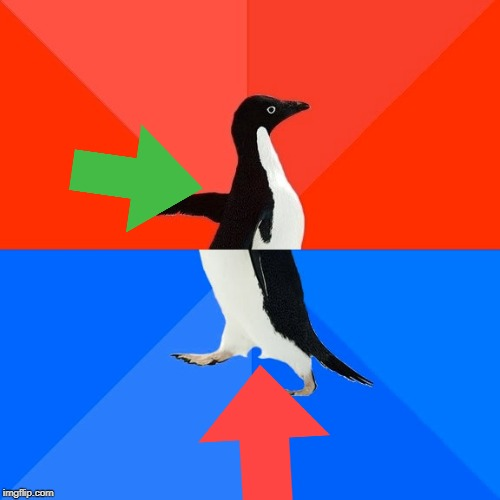 Socially Awesome Awkward Penguin | image tagged in memes,socially awesome awkward penguin | made w/ Imgflip meme maker