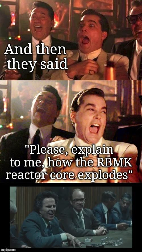 How the RBMK core explodes | image tagged in chernobyl,rbmk,hbo | made w/ Imgflip meme maker
