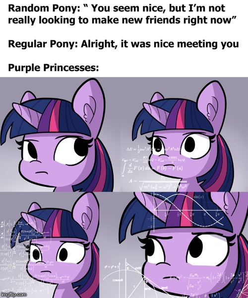 Purple unicorn pegusis doing unicorn pegusis math thingys | image tagged in my little pony,math lady/confused lady,lol | made w/ Imgflip meme maker