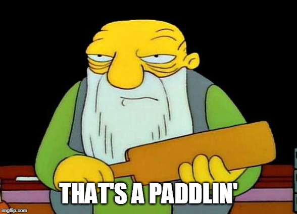 That's a paddlin' Meme | THAT'S A PADDLIN' | image tagged in memes,that's a paddlin' | made w/ Imgflip meme maker