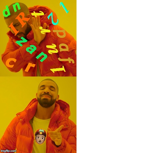 Minecraft | I R 1  u  r  t z a n p a f l  2 c  r d n ?? | image tagged in memes,drake hotline bling,minecraft | made w/ Imgflip meme maker