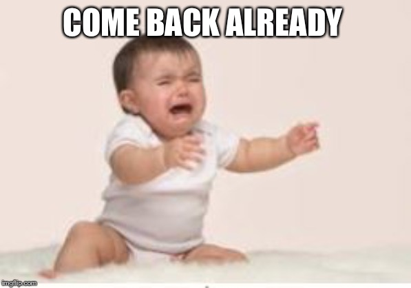 Come back! | COME BACK ALREADY | image tagged in come back | made w/ Imgflip meme maker