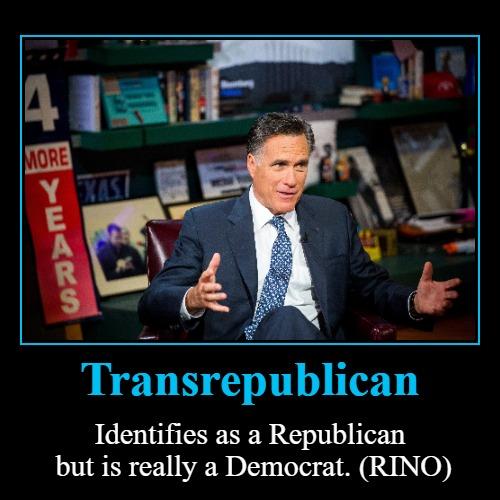 Meet Mitt Romney: Transrepublican - Imgflip