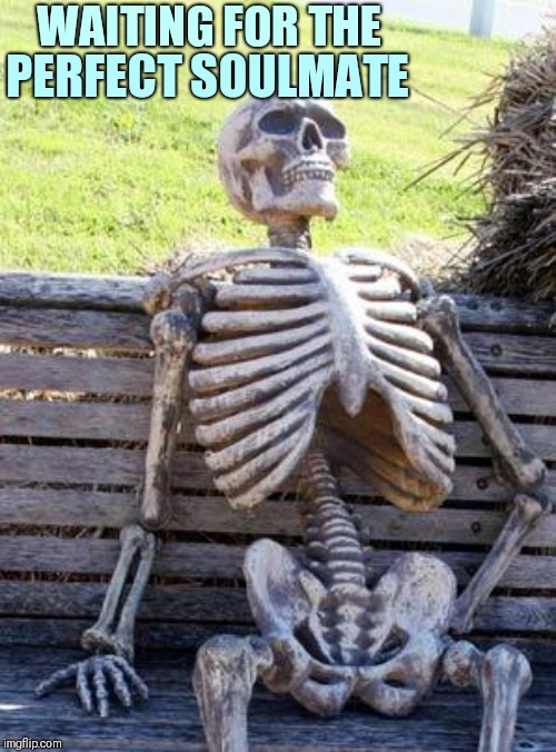 Waiting Skeleton Meme | WAITING FOR THE PERFECT SOULMATE | image tagged in memes,waiting skeleton | made w/ Imgflip meme maker