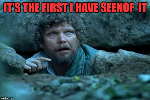 Under a Rock | IT'S THE FIRST I HAVE SEENOF  IT | image tagged in under a rock | made w/ Imgflip meme maker