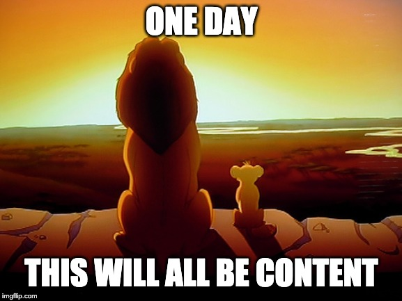 Lion King | ONE DAY THIS WILL ALL BE CONTENT | image tagged in memes,lion king | made w/ Imgflip meme maker