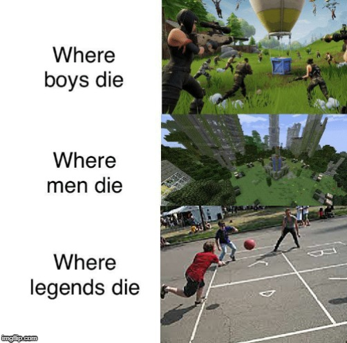 The Good Ol' Days | image tagged in memes,fortnite,minecraft,the good old days | made w/ Imgflip meme maker