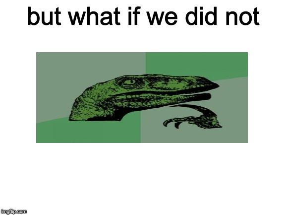 but what if we did not | image tagged in blank white template | made w/ Imgflip meme maker