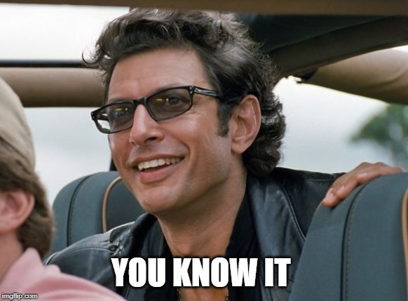 Jeff Goldblum | YOU KNOW IT | image tagged in jeff goldblum | made w/ Imgflip meme maker