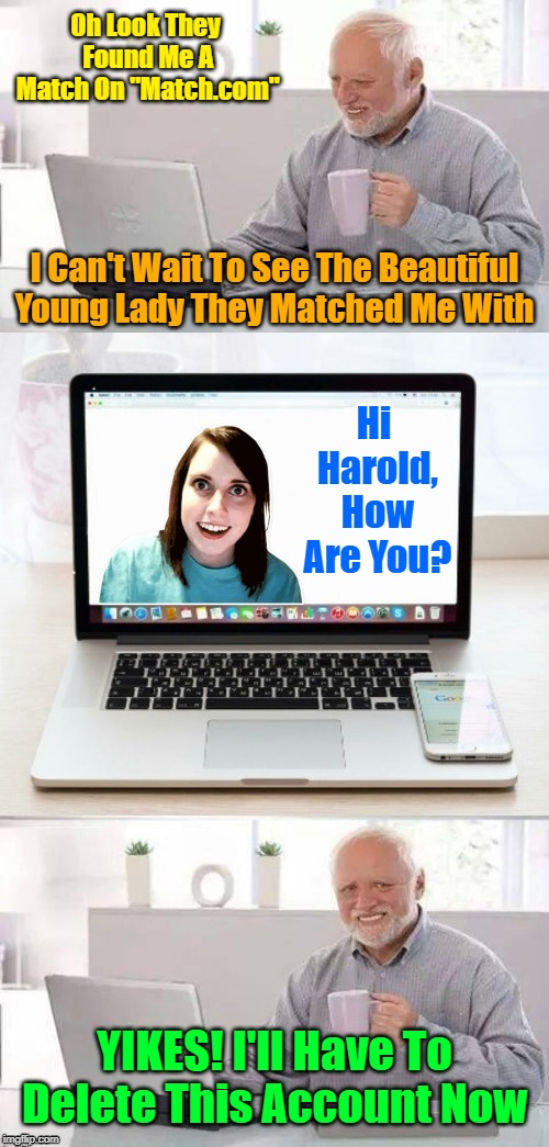 "*INTERNAL CRINGING INTENSIFIES* When Harold Clashes With OAG On A Dating Site! ""Hide The Pain Harold Weekend"" 
