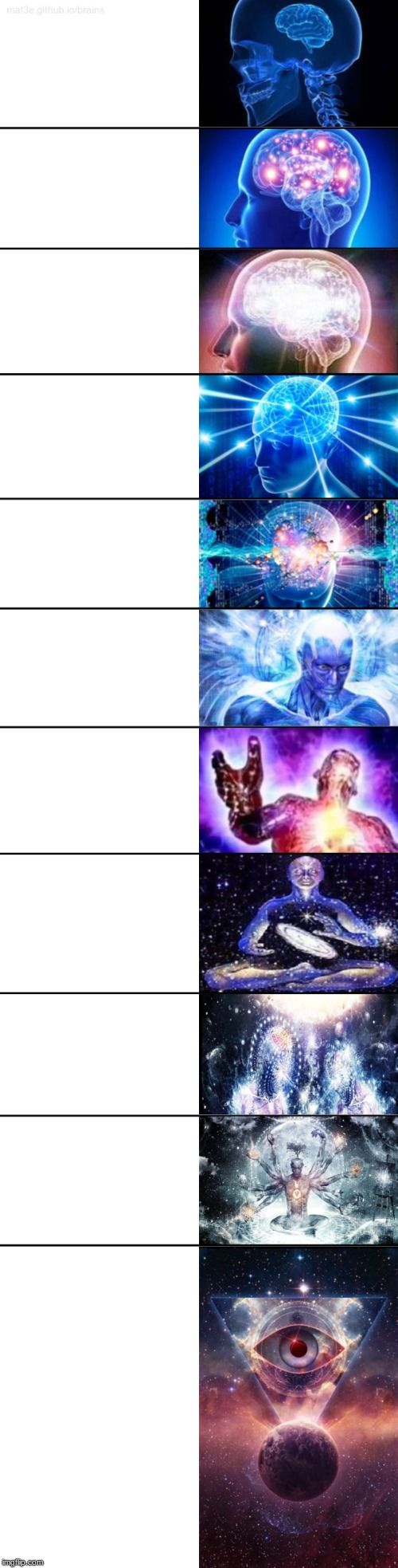 11-Tier Expanding Brain | image tagged in 11-tier expanding brain | made w/ Imgflip meme maker