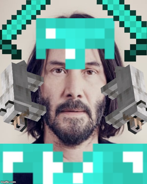 Keanu the God | image tagged in keanu reeves | made w/ Imgflip meme maker