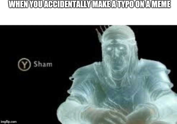 Y (Shame) |  WHEN YOU ACCIDENTALLY MAKE A TYPO ON A MEME | image tagged in y shame | made w/ Imgflip meme maker