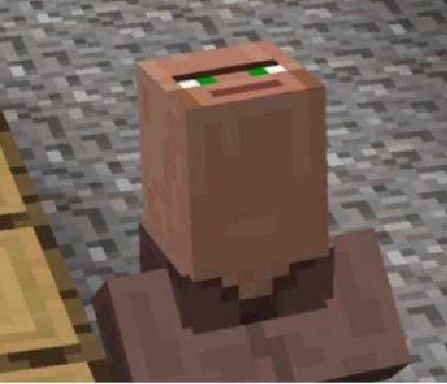 Minecraft Villager Looking Up Blank Meme Template