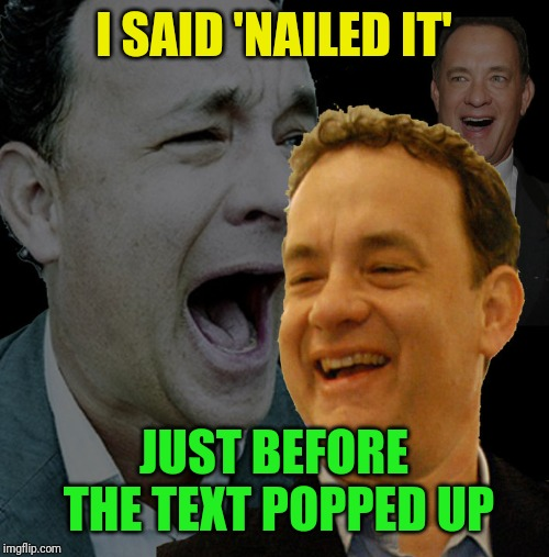 I SAID 'NAILED IT' JUST BEFORE THE TEXT POPPED UP | made w/ Imgflip meme maker