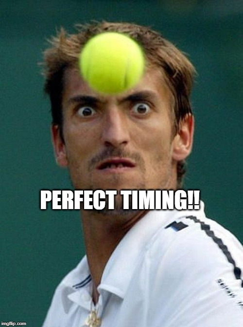 perfect timing | PERFECT TIMING!! | image tagged in perfect timing | made w/ Imgflip meme maker