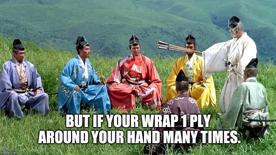 You've got it all wrong. | BUT IF YOUR WRAP 1 PLY AROUND YOUR HAND MANY TIMES. | image tagged in samurai,toilet paper,toilet humor | made w/ Imgflip meme maker