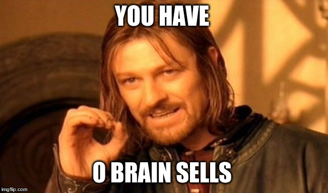One Does Not Simply Meme | YOU HAVE 0 BRAIN SELLS | image tagged in memes,one does not simply | made w/ Imgflip meme maker