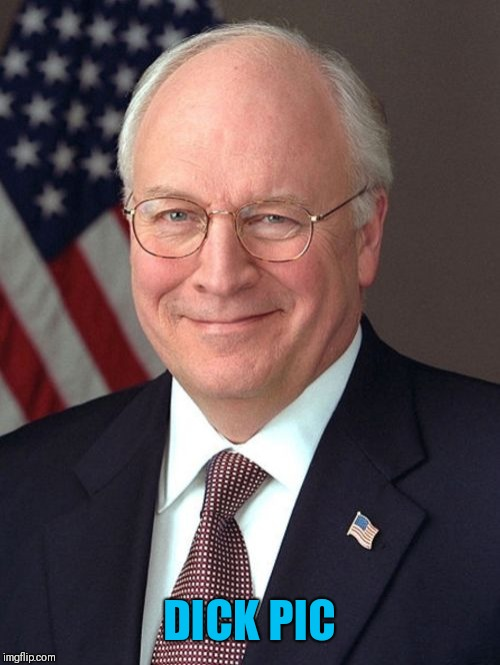 Dick Cheney Meme | DICK PIC | image tagged in memes,dick cheney | made w/ Imgflip meme maker