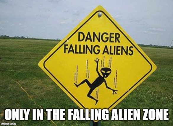 ONLY IN THE FALLING ALIEN ZONE | made w/ Imgflip meme maker