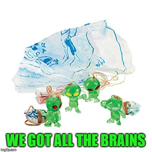 WE GOT ALL THE BRAINS | made w/ Imgflip meme maker