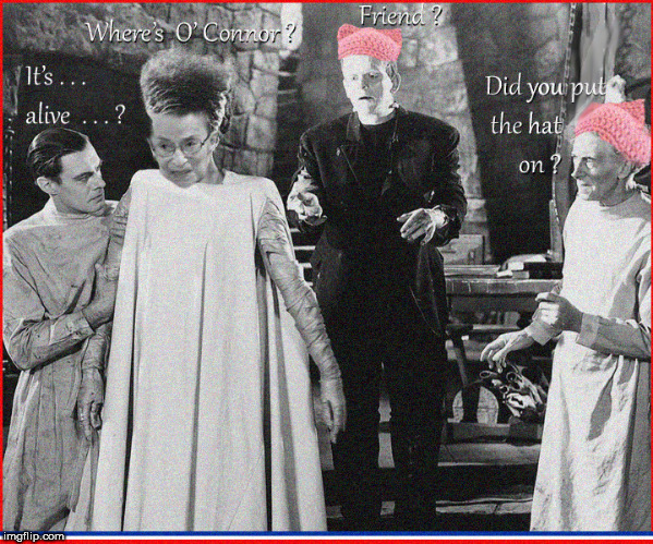 Where's Ruth ? | image tagged in ruth bader ginsburg,bride of frankenstein,lol so funny,funny memes,vintage,front page | made w/ Imgflip meme maker