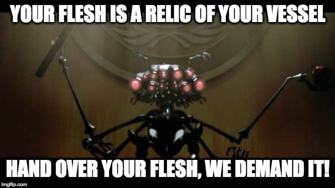 Hand over your flesh