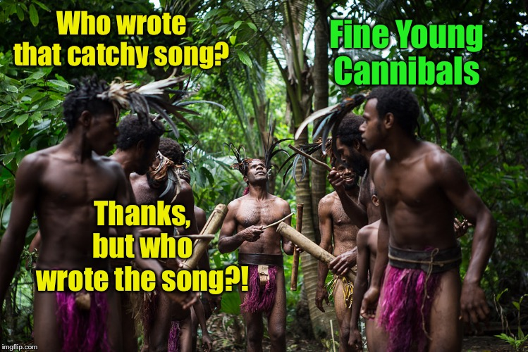 Who wrote that catchy song? Fine Young Cannibals Thanks, but who wrote the song?! | made w/ Imgflip meme maker
