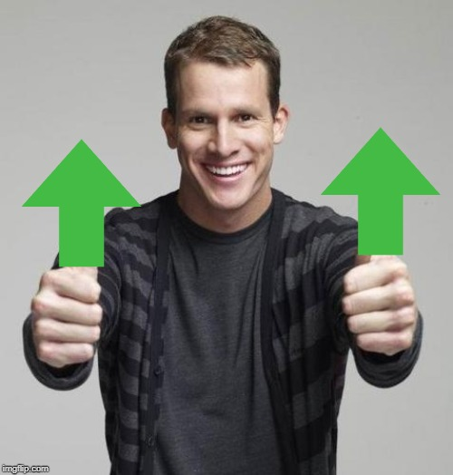 Double Thumbs Up Daniel Tosh | image tagged in double thumbs up daniel tosh | made w/ Imgflip meme maker