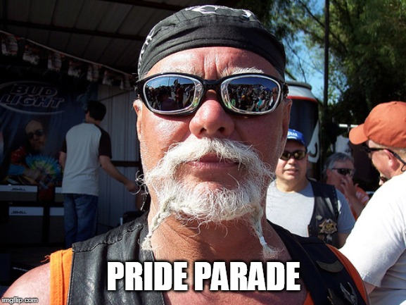 Tough Guy Wanna Be | PRIDE PARADE | image tagged in memes,tough guy wanna be | made w/ Imgflip meme maker