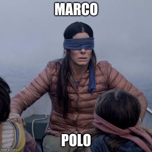 Bird Box Meme | MARCO POLO | image tagged in memes,bird box | made w/ Imgflip meme maker
