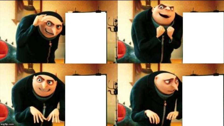 I remade this template so I could get better default textbox placement settings | image tagged in gru's diabolical plan fail | made w/ Imgflip meme maker