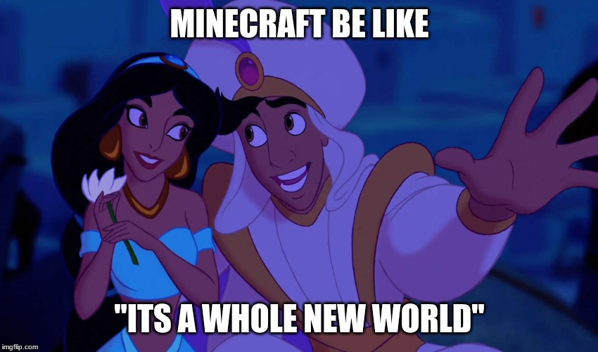 "Alladin |  MINECRAFT BE LIKE; ""ITS A WHOLE NEW WORLD"" 