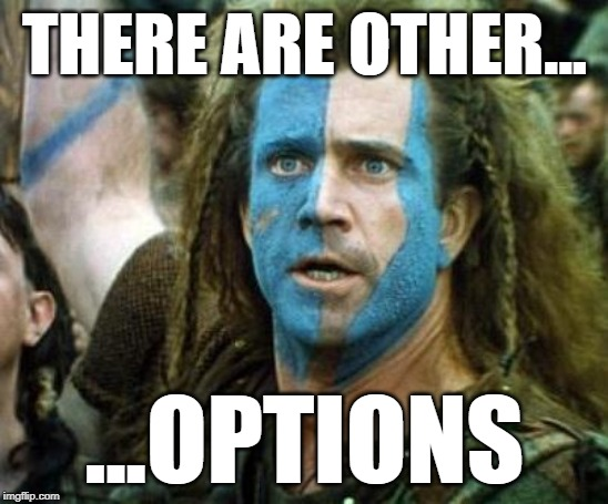 Scotland Week | THERE ARE OTHER... ...OPTIONS | image tagged in scotland week | made w/ Imgflip meme maker