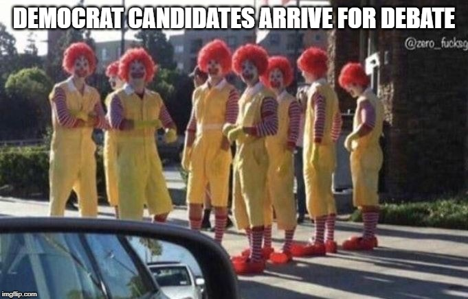 democrat presidential candidates |  DEMOCRAT CANDIDATES ARRIVE FOR DEBATE | image tagged in democrats,presidential race,presidential candidates | made w/ Imgflip meme maker