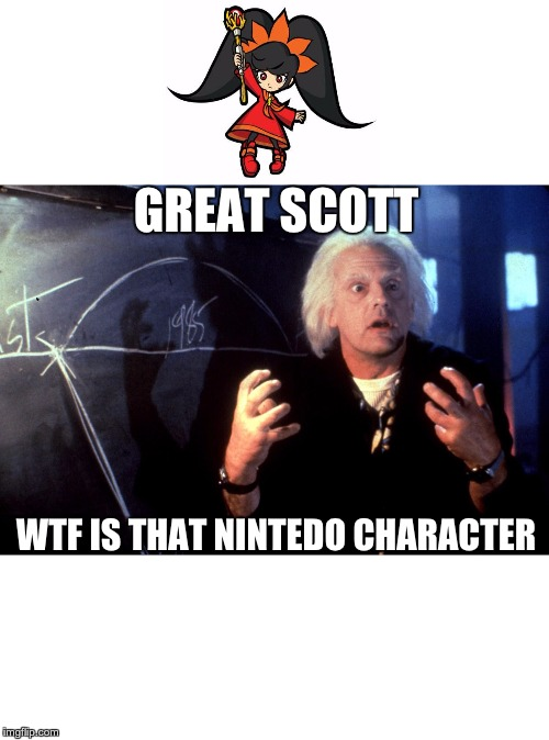 doc? | GREAT SCOTT WTF IS THAT NINTEDO CHARACTER | image tagged in back to the future multiple timeline doc | made w/ Imgflip meme maker