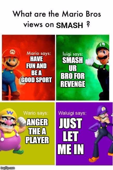 Smash Ultimate Mario Broz Misc Views Memes Gifs Imgflip