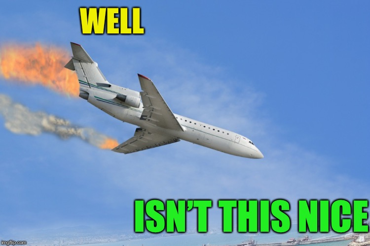 Plane Crash | WELL ISN'T THIS NICE | image tagged in plane crash | made w/ Imgflip meme maker
